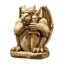 gargoyle home decor shop design toscano victor the vicious gargoyle sculpture at lowes com