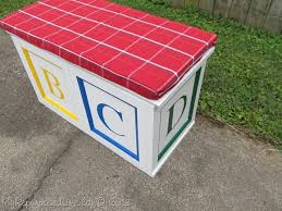 how to make a toy box cushion how to build a temporary wooden