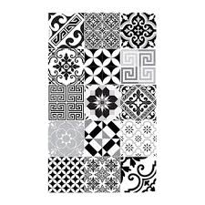Black And White Floor Rug Buy Beija Flor Sofi Vinyl Floor Mat Black U0026 White Amara