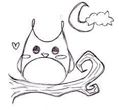 black ink cartoon owl tattoo sketch u2013 truetattoos