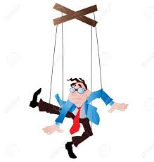 string puppet employee as a puppet on strings royalty free cliparts vectors