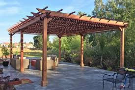 Diy Pergola Ideas by Enchanting Pergola Plans Attached To House Photos Best Image