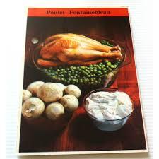 fiche cuisine fiche cuisine vintage rétro par m poulet fontainebleau