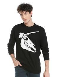 skull sweater black white unicorn skull intarsia knit sweater topic
