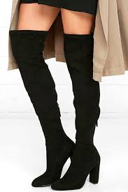 steve madden isaac boots black suede boots over the knee boots