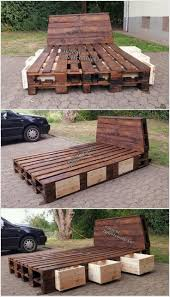 bedroom pallet platform bed instructions handmade pallet