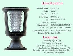 Solar Powered Gate Lights - decorative solar powered led pillar gate lights for home buy