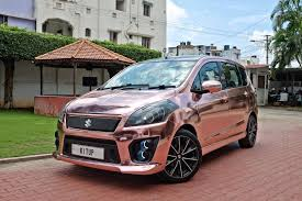 jeep mercedes rose gold custom maruti ertiga with a rose gold wrap in images
