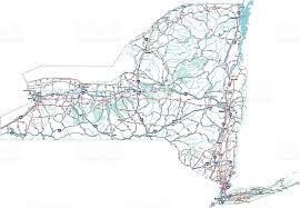 new york state highway map stock vector 93477961 istock