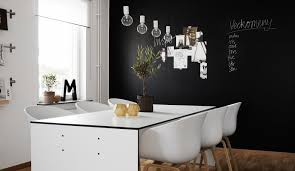 Black And White Dining Room by Black Walls Fetching Us