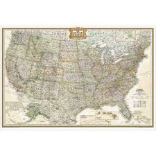 Show Me The United States Map by Us Wall Maps Laminated Us Map Posters National Geographic Store