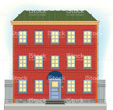 Three Story House Three Story Brick House Stock Vector Art 165062535 Istock
