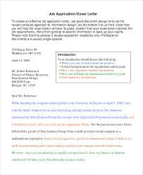 sample of cover letter 8 examples in word pdf