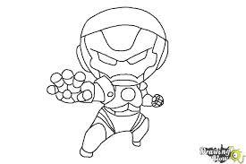 draw chibi iron man drawingnow