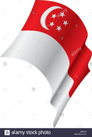 Singapur Flag The National Symbol Singapore Its Stock Photos U0026 The National