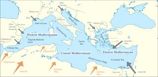 Map Mediterranean Climate Data Provided By Mediterranean Seabed Sediments