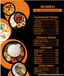 indian menu template format u0026 template