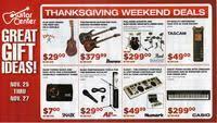 guitar center black friday 2011 ad scan