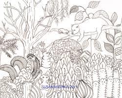 after henri rousseau style watercolors by susan medyn