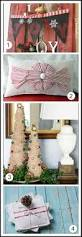 fringed burlap christmas tree tutorial