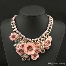 collar bib necklace images Online cheap luxury brand ab shine crystal flower necklace gold jpg