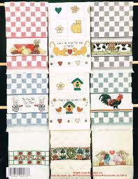 cross stitch pattern country kitchen towels cross stitch