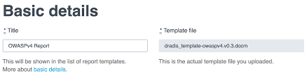 field report template report template properties dradis pro help