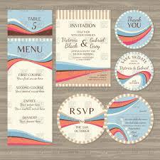 Wedding Cards Invitation Templates Templates Of Retro Wedding Cards Invitations Menu And Stickers