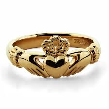 claddagh rings gold claddagh ring ulg 6334y in 14k yellow gold