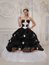 black and white quinceanera dresses gorgeous black and white quinceanera dress sweetheart taffeta and