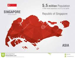 Singapore On Map Singapore World Map With A Pixel Diamond Texture Stock