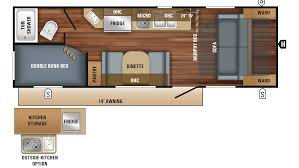Jayco Travel Trailers Floor Plans by 2018 Jayco Jay Feather 7 22bhm Model