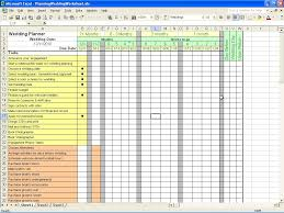 wedding planner calendar spreadsheet for wedding planning laobingkaisuo