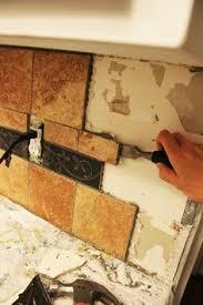 removing kitchen tile backsplash kitchen backsplash removal and prep ranch house redo