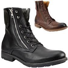 gbx mens combat boots double zipper lace up military biker ankle
