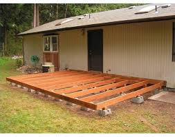 build a how to build a deck using deck blocks decking backyard and earth