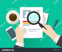 Resume Vector Cv Application Paper Sheet Business Man Stock Vector 393287248