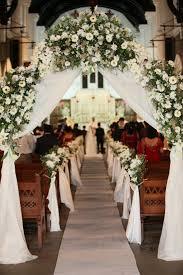 Wedding Arches On Pinterest English Church Wedding Decorations Like The Pew Decorations
