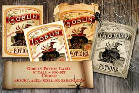 Free Printable Halloween Potion Labels by Halloween Witch Goblin Potion Label Vintage Apothecary Digital