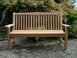 5ft Garden Bench 4memorialbench 5ft Teak Classic Garden Bench With Carved