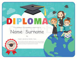 preschool graduation diploma primary school kids graduation diploma certificate background design