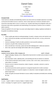Resume Customer Service by Service Advisor Resume Template Resume For Your Job Application
