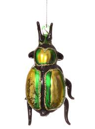 shimmering green beetle ornament by foster co plasticland