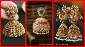 gold jhumka earrings design hmongbuy net gold jhumka earrings designs with shop address
