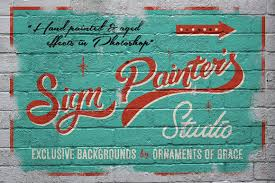 painters sign painter u0027s studio layer styles creative market