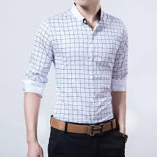 mens white checked shirt artee shirt
