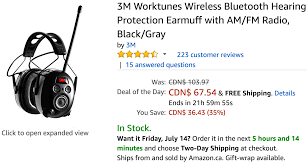 amazon ca black friday sale amazon canada deals of the day save 35 on 3m worktunes wireless