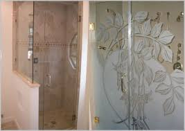Etched Shower Doors Etched Glass Shower Doors Best Of Etched Glass Shower Doors