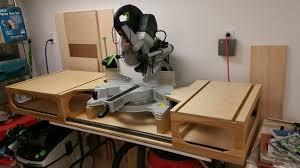 modified paulk mft workbench and miter saw stand festool kapex