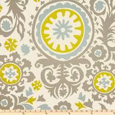 fabric suzani summerland premier prints grey blue green